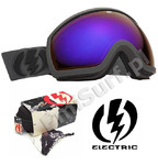 Gogle Electric EG2 Rocket Exhaust Matte Bronze/Blue Chrome Lens