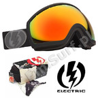 Gogle Electric EG2 Missile Exhaust Matte Bronze/Red Chrome Lens